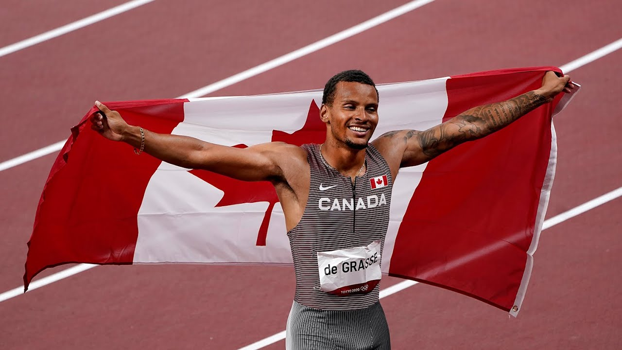 Canadian sprinter Andre De Grasse finally gets his gold
