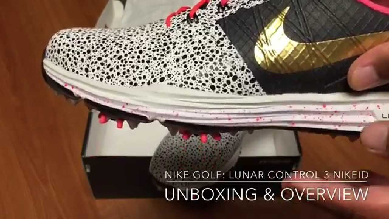 sale retailer 7eb1e 8e02a Nike Golf  Lunar Control 3 NIKEiD Unboxing   Overview - YouTube