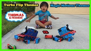 Ryan plays with Thomas and Friends Remote Control Trains
