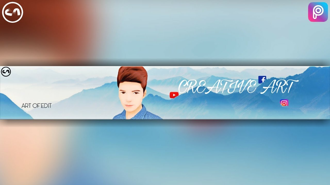 The maximum youtube banner size is not limited by dimensions, but rather a 6mb file size limitation. Make A Youtube Banner Channel Art Picsart Tutorial Youtube