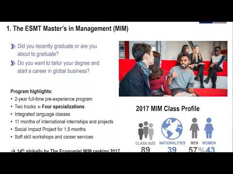 Master's in Management (MIM) Webinar with Career Services and Admissions