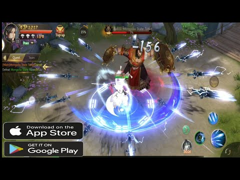Free MMORPG Android / IOS Game (LEGEND OF MARTIAL ARTS GAMEPLAY)
