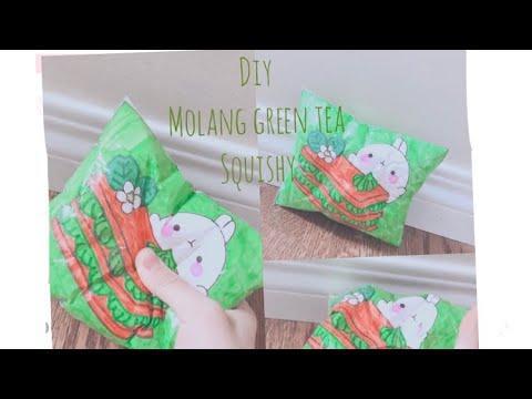 DIY molang green tea pie paper squishy!!! MUST WATCH SO CUTE!