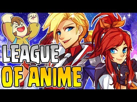 ANIME IN LEAGUE?! *NEW* Battle Academia EZREAL + LUX! Ft. Yamikaze & Luxxbunny