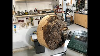 Woodturning - The Massive Live Edge Crotch Burl