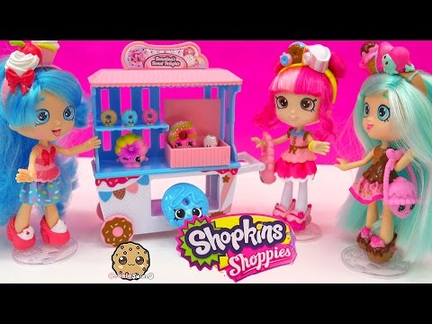 Shoppies Doll Donatina's Donut Delights Playset Season 4 Exclusives + Mini Shopkins Toy Video