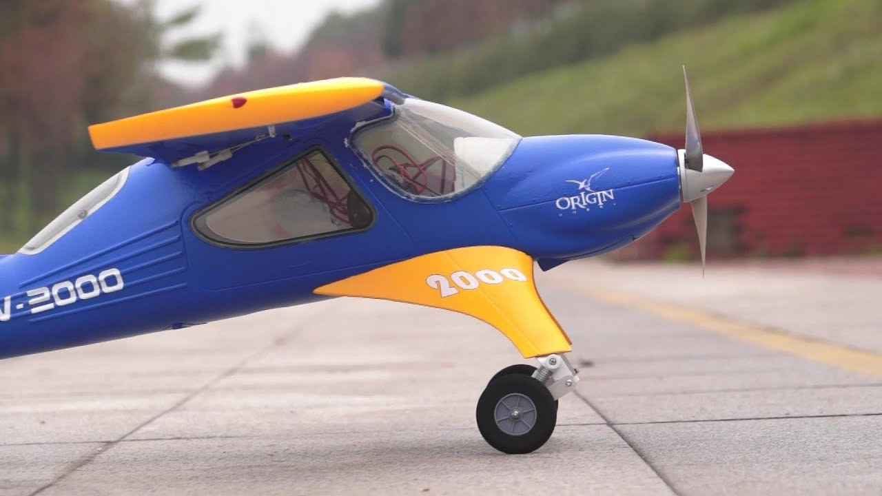 Wilga 2000 RC Electric Airplane 2nd Flight with ESS Air