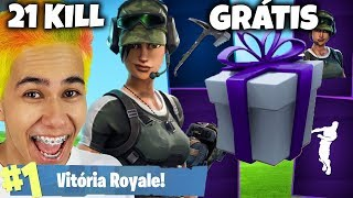 I WON THE NEW FREE ITEMS AT FORTNITE AND WE KILLED 21!
