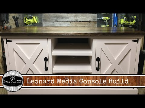 Lazy Guy DIY Presents: Leonard Media Console Build