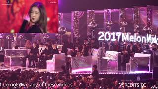 Top 10 Awards - Wanna One, Exo, Twice, and Winner reaction to Red Velvet @ MMA 2017