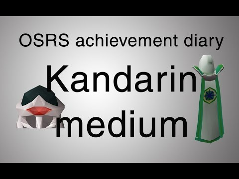 [OSRS] Kandarin medium achievement diary guide
