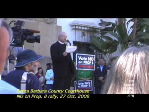 NO on Proposition 8 rally, Santa Barbara, 27 Oct. 2008