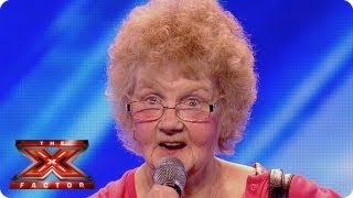 The Xtra Factor meets 73-year-old hopeful Joyce - Auditions Week 2 - The Xtra Factor UK 2013