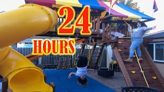 24 Hours Overnight in Our Playhouse Challenge
