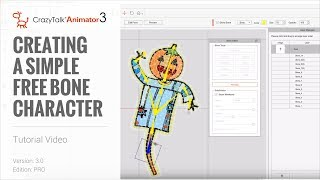 CrazyTalk Animator 3 Tutorial - Creating a Simple Free Bone Character - For Pro and Pipeline Version