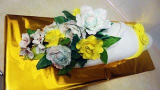 Букет цветов.  Торт / Bouquet of flowers. Cake. Yellow flowers