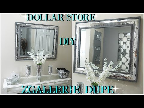 DIY DOLLAR STORE | 2018 HIGH END MIRRORED WALL DECOR DUPE ZGALLERIE INSPIRED| DIY HOME DECOR