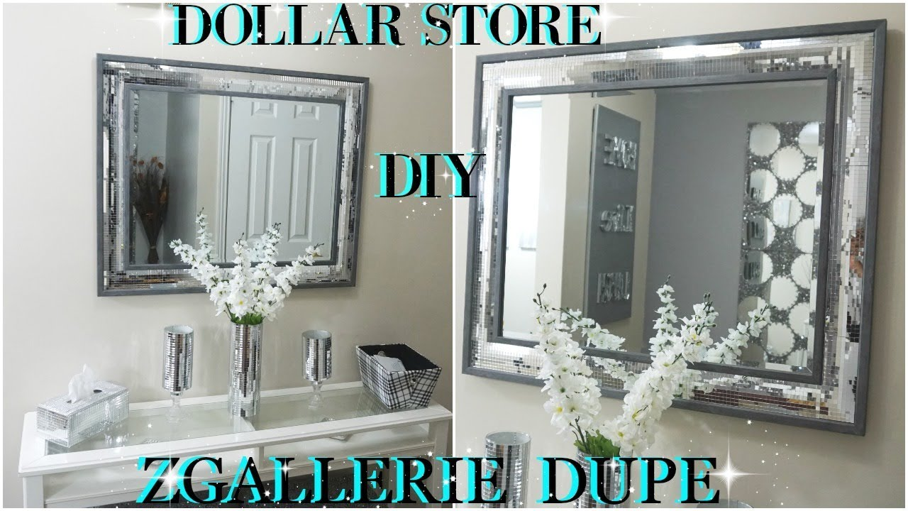 Diy Dollar Store 2018 High End Mirrored Wall Decor Dupe