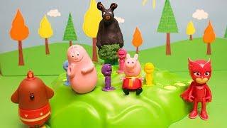 SALVA BING! - Barbapapà e Gufetta sfidano Duggee e Peppa Pig [Challenge]