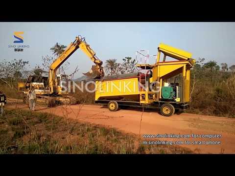 SLK-MGT50 Gold Trommel Wash Plant in Africa