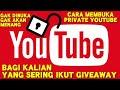 cara membuka private akun youtube