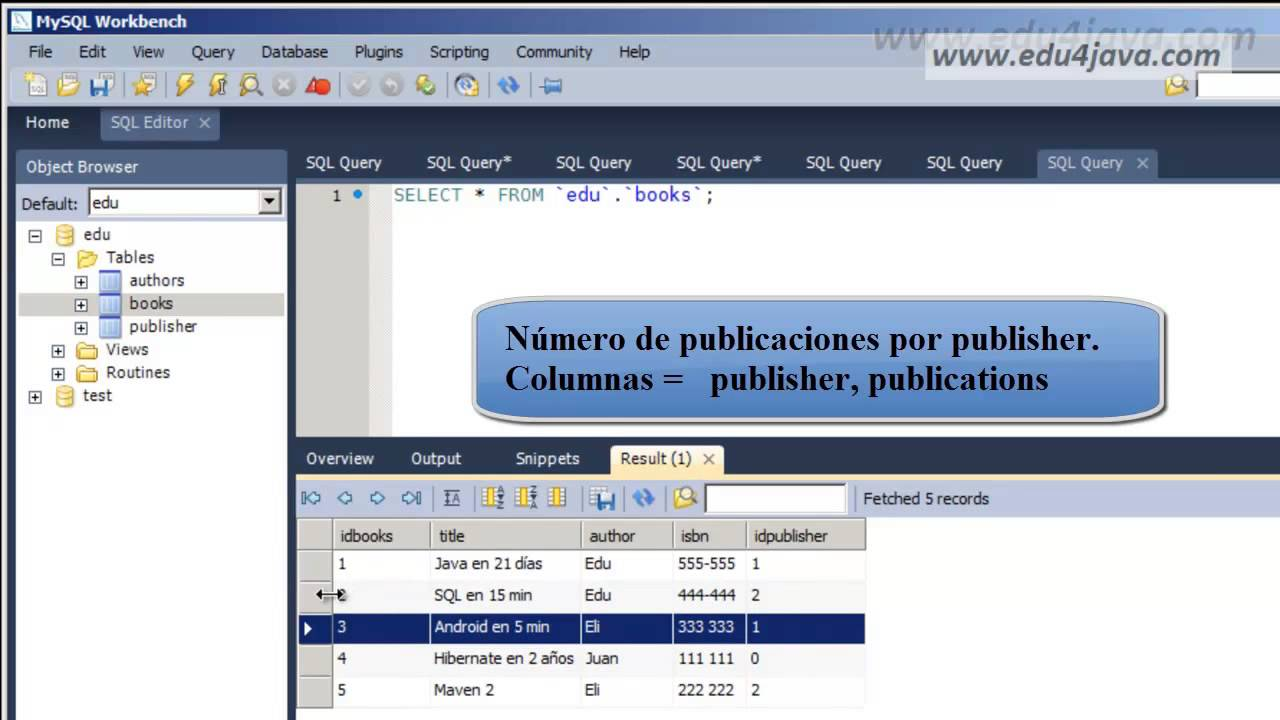 Tutorial SQL 11. Count. Group By statement with MySql Workbench - YouTube