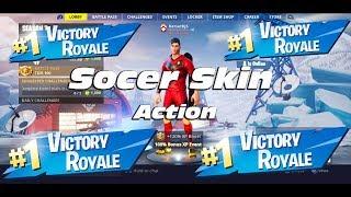 Socer Skin Action/Fortnite Live Stream/