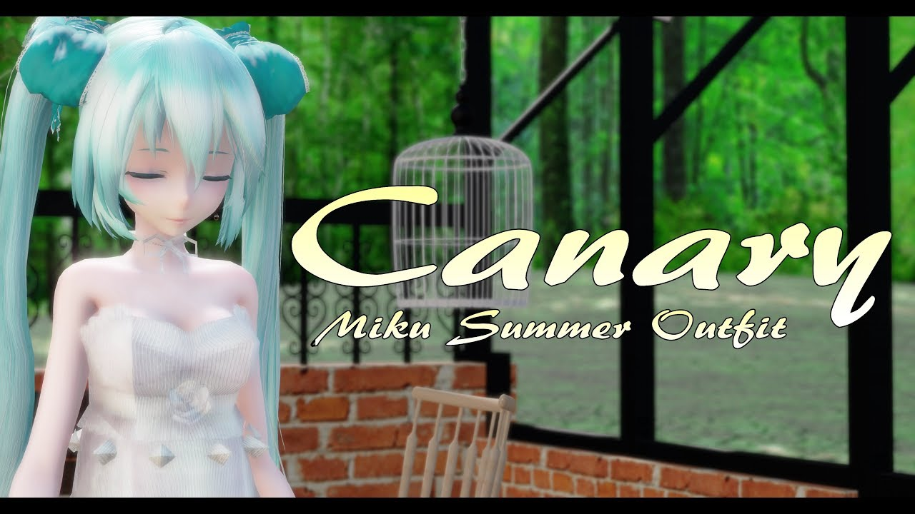 [VIDEO] - 1696【MMD】カナリア【Miku Summer Outfit】 1