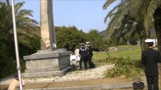 平成26年度海上自衛隊練習艦隊 九軍神慰霊碑献花式