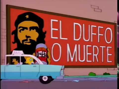 Homer visits Fidel Castro in Cuba  - The Simpsons