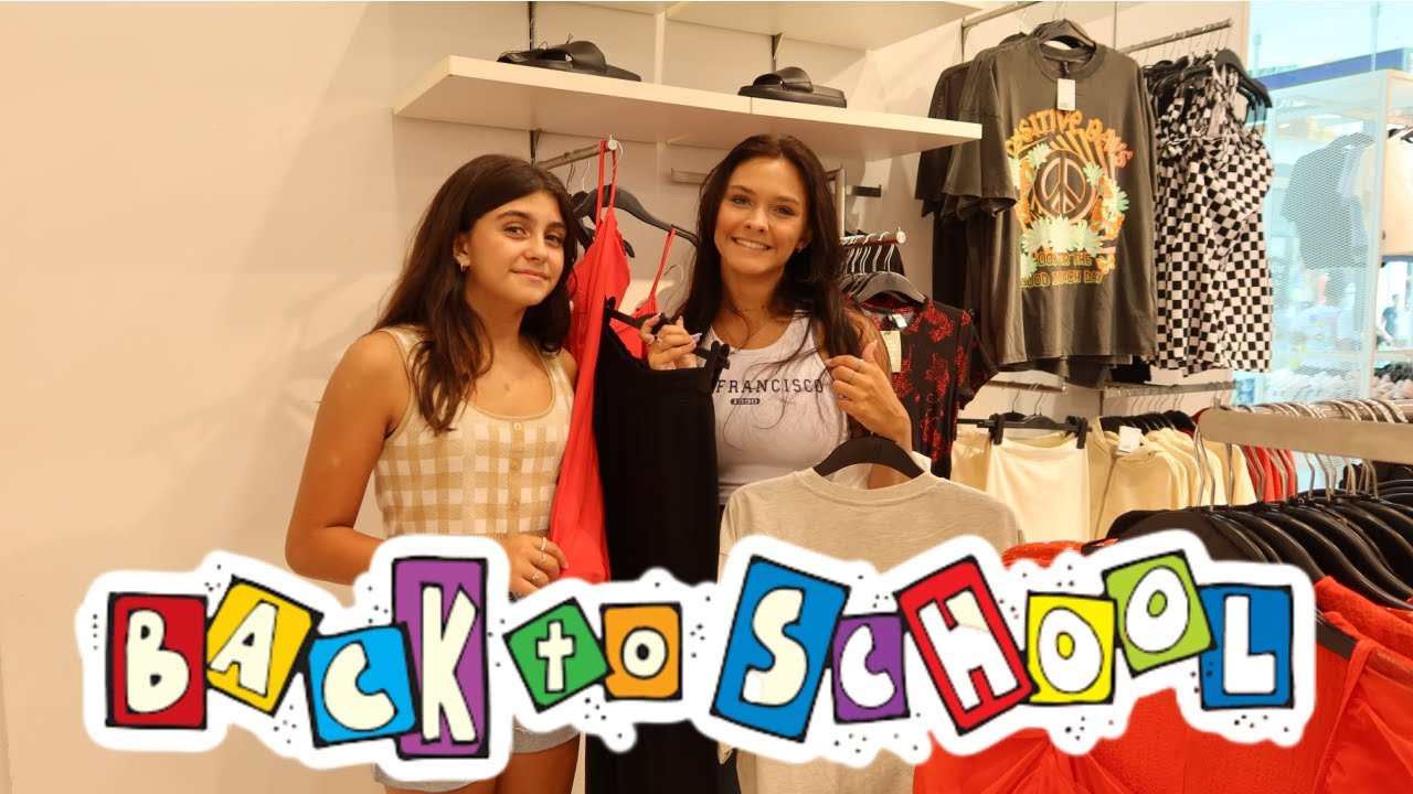 BACK TO SCHOOL SHOPPING + MALL HAUL! DAY 2 EMMA AND ELLIE