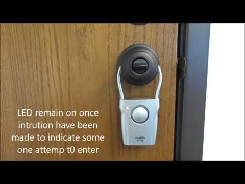 A Techko Door Knob Vibraion Sensor Alarm & Chime Model S184S 2