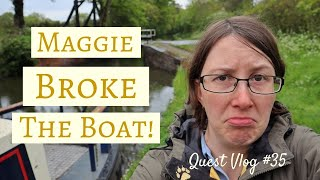 Broken Down Narrowboat! Stuck On The Stratford-On-Avon Canal   Quest Vlog #35