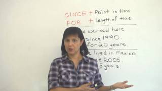 English Grammar – SINCE & FOR