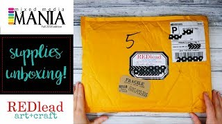 Red Lead Paperworks Unboxing - Supplies for Mixed Media Mania Fall 2018!