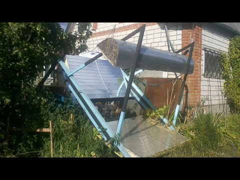 Free (0 $) mirrors for solar heaters Parabolic Trough : manufacturing and installation