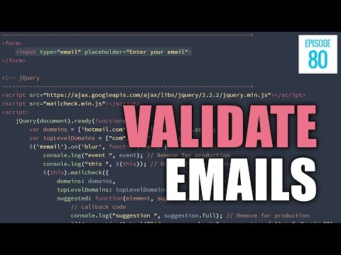 JMS080: 3 Ways to Verify an Email Address Using HTML, jQuery and PHP