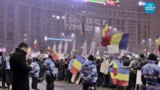 Proteste în Piaţa Victoriei Bucureşti - Duminică 05.02.2017
