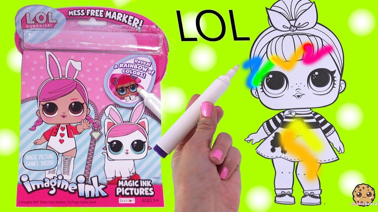 Lol Surprise Magic Imagine Ink Rainbow Color Pen Surprise Picture Coloring Video Youtube