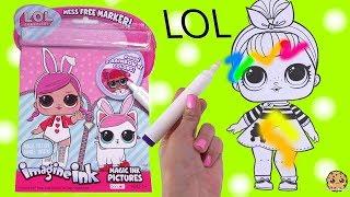 LOL Surprise Magic Imagine Ink Rainbow Color Pen Surprise Picture Coloring Video