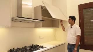 Handleless Matt Acrylic Kitchen powered by Hafele/Blum from Interazzo.com at KR Puram, Bangalore