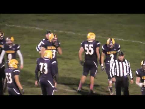 Wickliffe Blue Devil Football - 10/21/16 Highlights