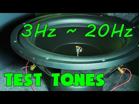 LOW FREQUENCY TEST TONES