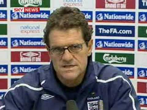 England manager Fabio Capello English press conference