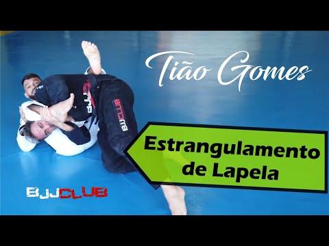 Estrangulamento de Lapela com Tião Gomes - Jiu Jitsu - BJJCLUB