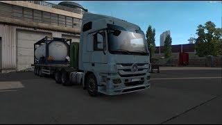 Euro Truck Simulator 2. КОПИМ НА ПЕРВЫЙ TRUCK #5 (руль logitech g29)