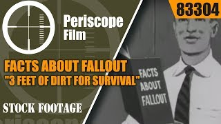 """FACTS ABOUT FALLOUT  """"3 FEET OF DIRT FOR SURVIVAL""""  83304"""