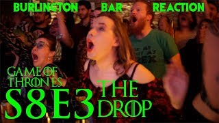 "Game Of Thrones // Burlington Bar Reactions // S8E3 ""THE DROP"" Scene!!"