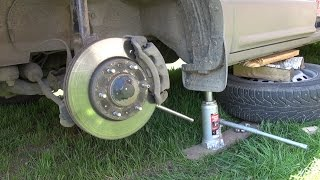 Замена передних тормозных колодок Grand Starex (replace front brake pads)