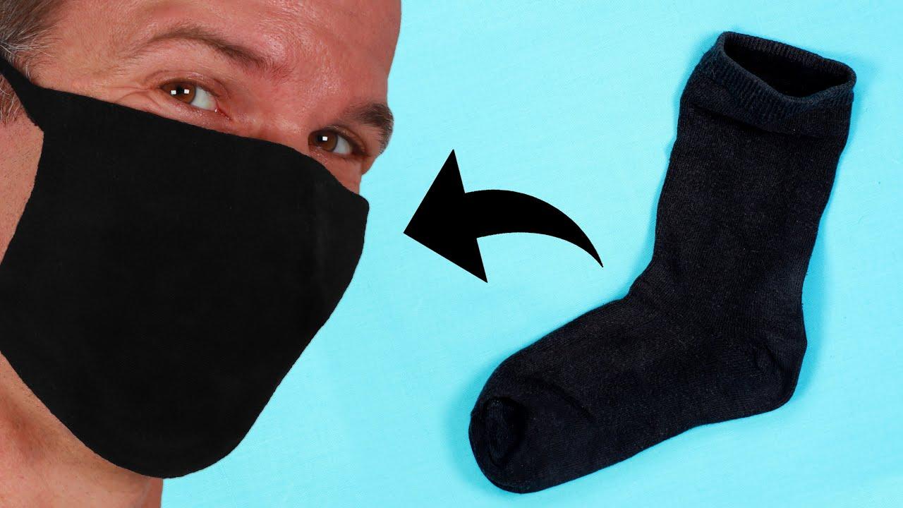Como hacer mascarillas utilizando calcetines
